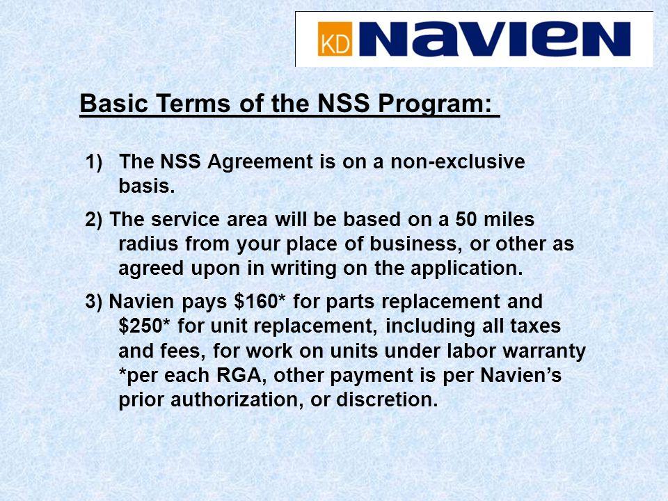 Basic Terms of the NSS Program: