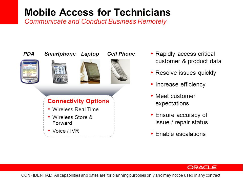 Mobile Access for Technicians Communicate and Conduct Business Remotely