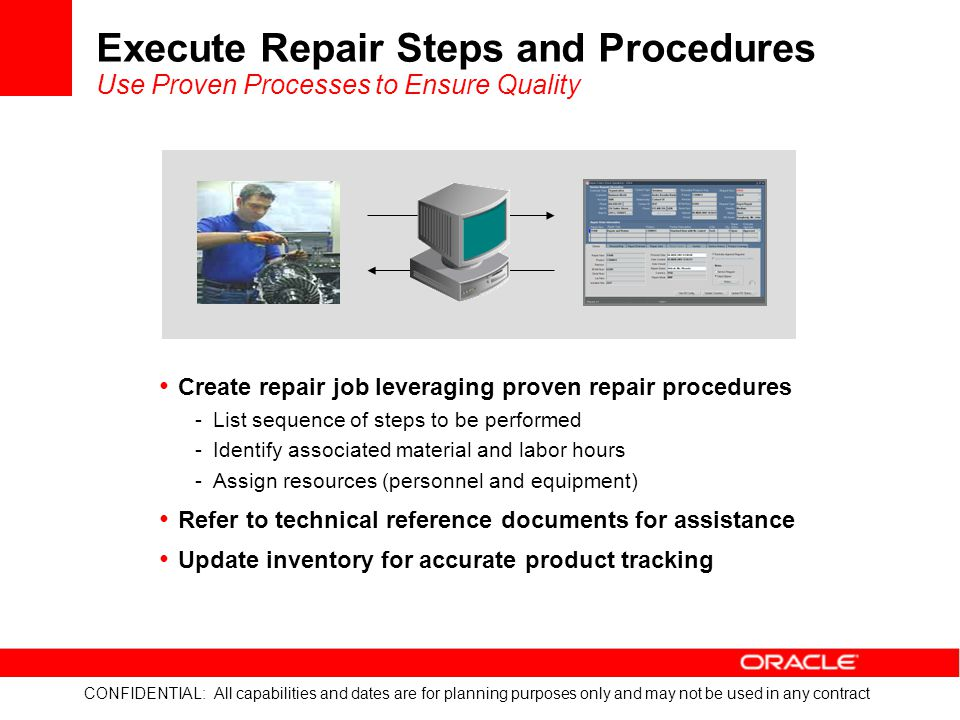 Execute Repair Steps and Procedures Use Proven Processes to Ensure Quality