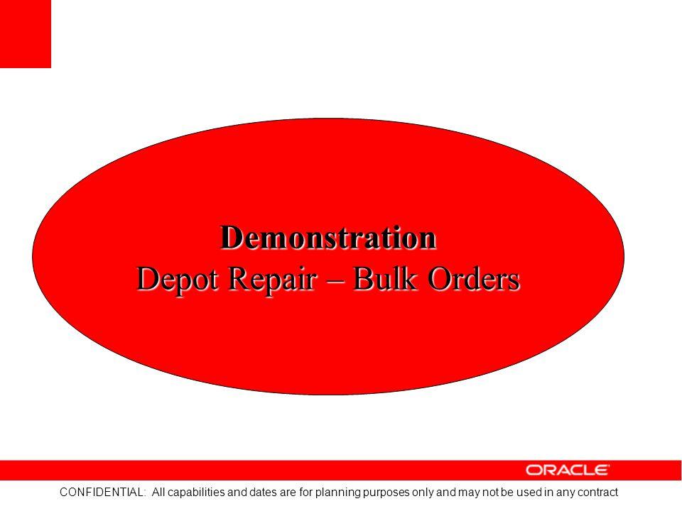 Depot Repair – Bulk Orders