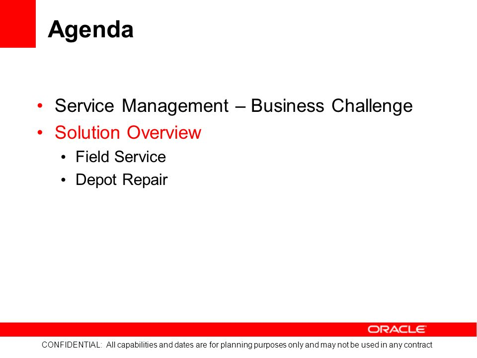 Agenda Service Management – Business Challenge Solution Overview
