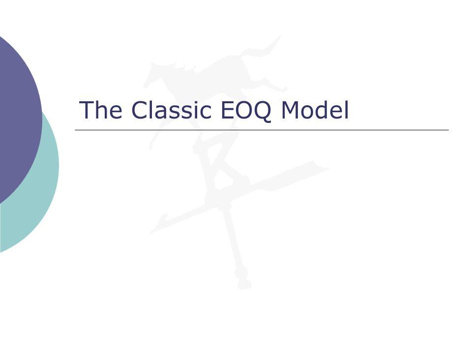 The Classic EOQ Model