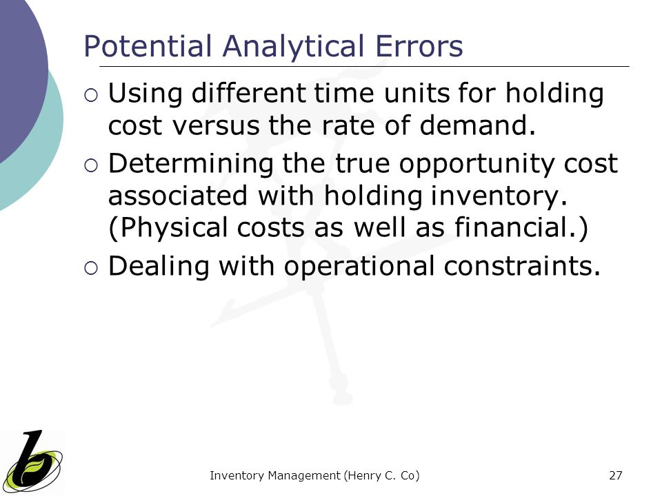 Potential Analytical Errors