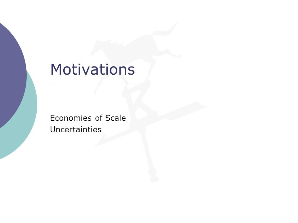 Economies of Scale Uncertainties