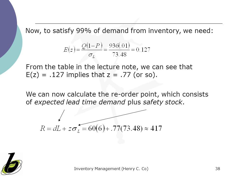 Inventory Management (Henry C. Co)
