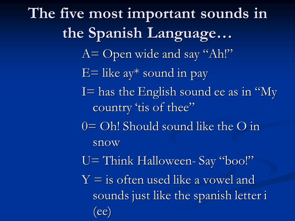 The five most important sounds in the Spanish Language…