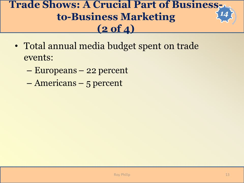 Trade Shows: A Crucial Part of Business-to-Business Marketing (2 of 4)