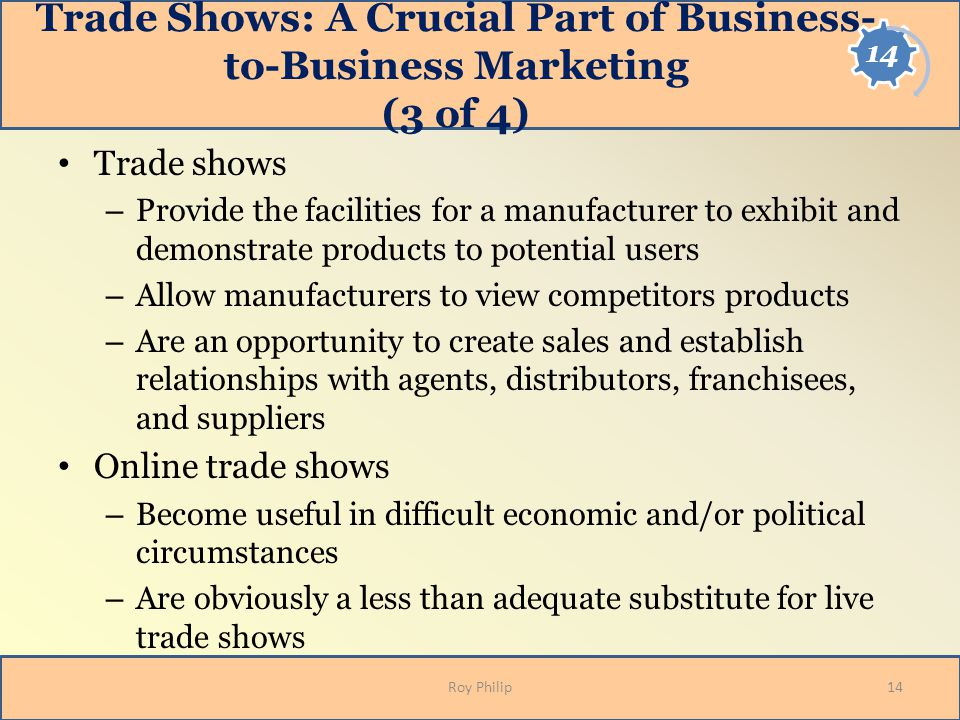 Trade Shows: A Crucial Part of Business-to-Business Marketing (3 of 4)