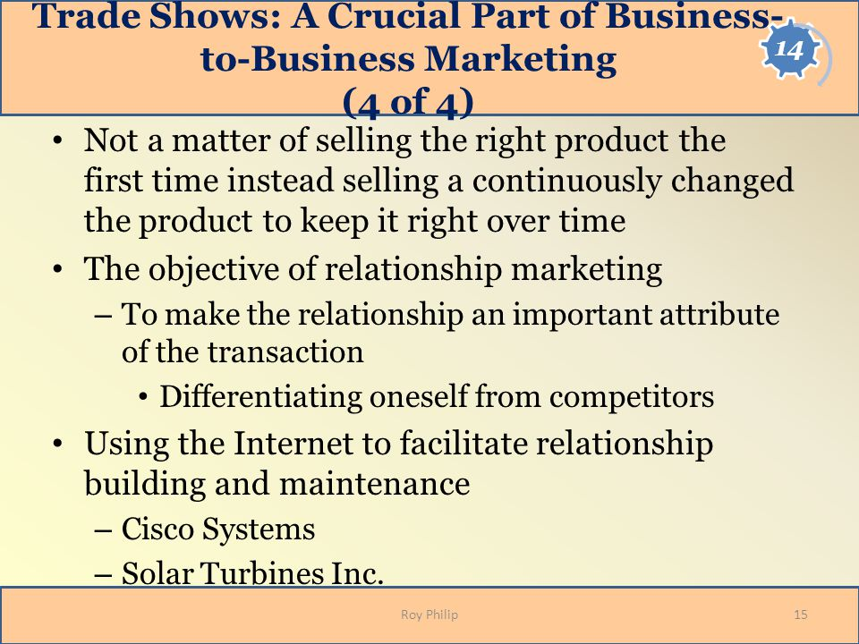 Trade Shows: A Crucial Part of Business-to-Business Marketing (4 of 4)