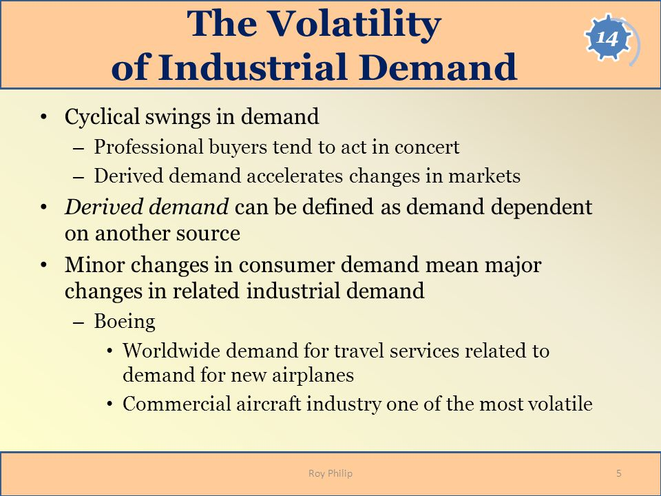 The Volatility of Industrial Demand