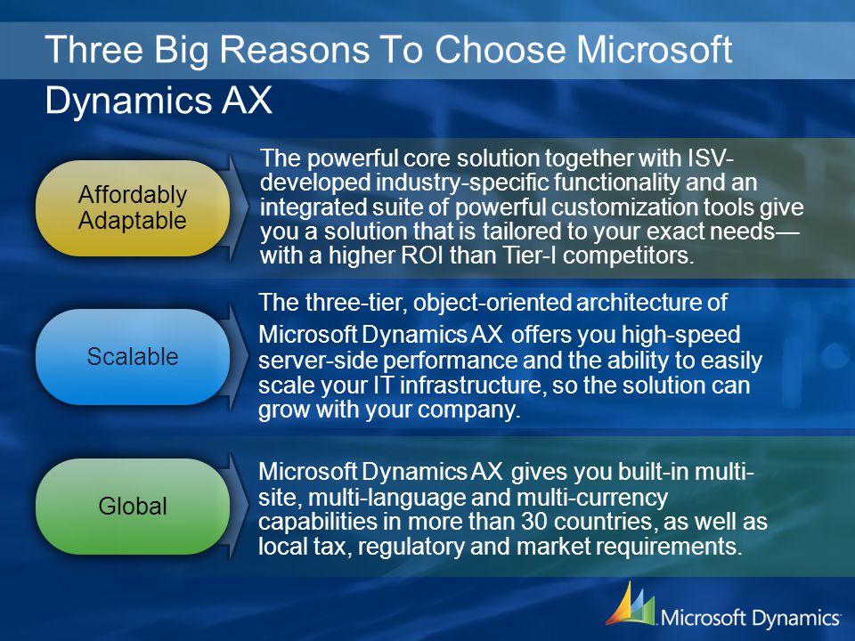 Three Big Reasons To Choose Microsoft Dynamics AX