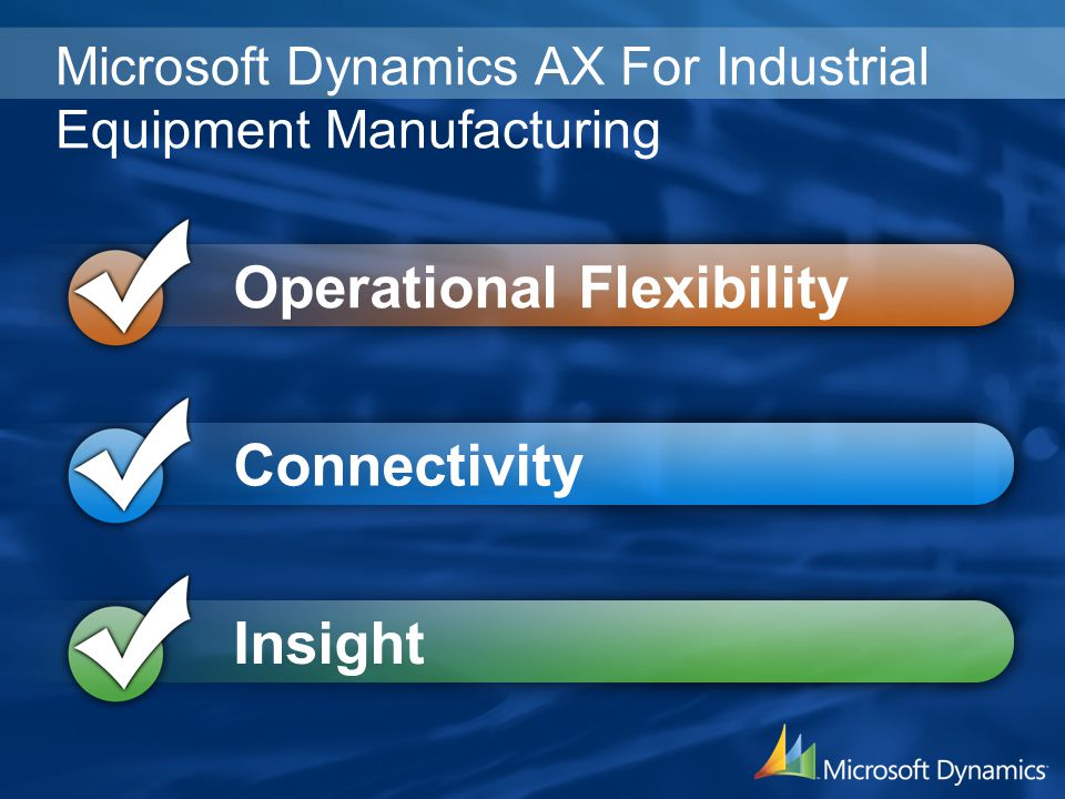 Microsoft Dynamics AX For Industrial Equipment Manufacturing
