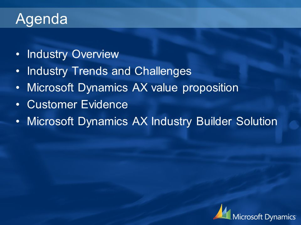 Agenda Industry Overview Industry Trends and Challenges
