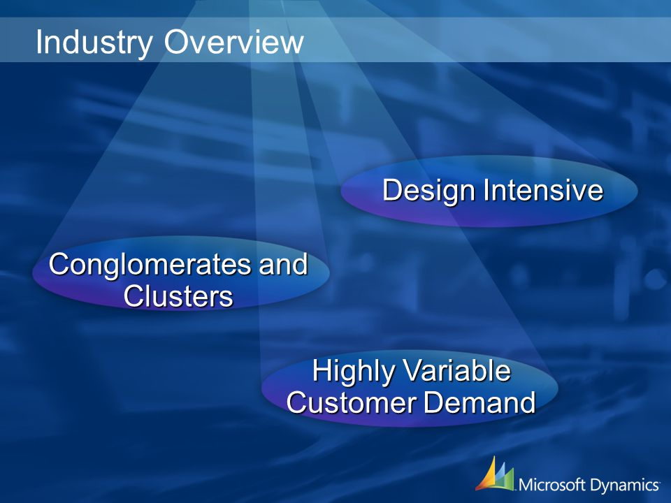 Industry Overview Design Intensive Conglomerates and Clusters