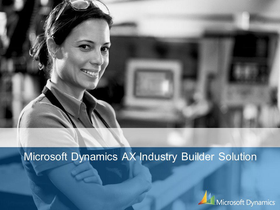 Microsoft Dynamics AX Industry Builder Solution