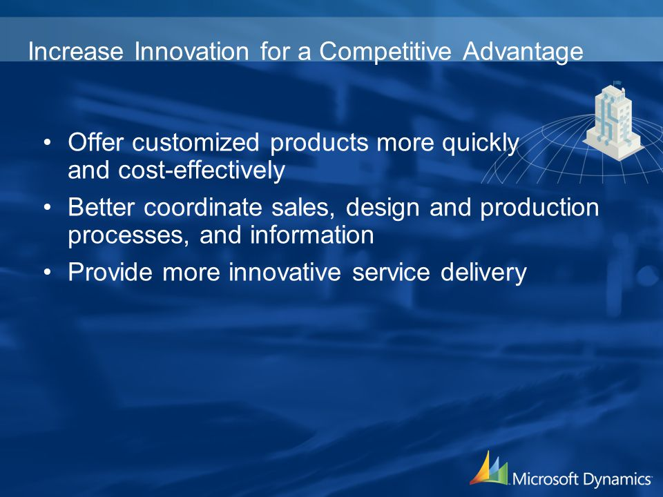 Increase Innovation for a Competitive Advantage