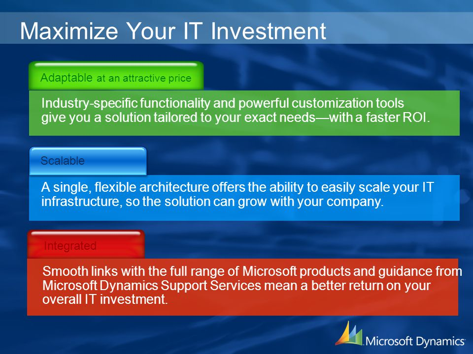 Maximize Your IT Investment