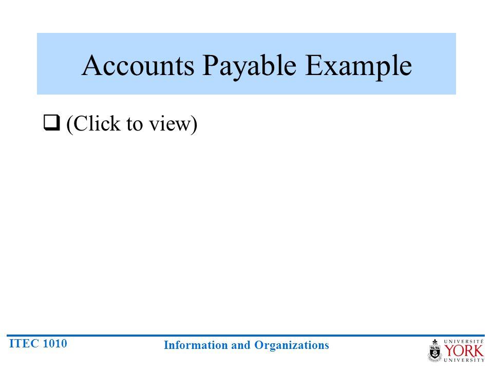 Accounts Payable Example