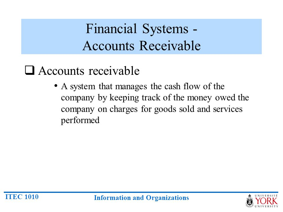 Financial Systems - Accounts Receivable