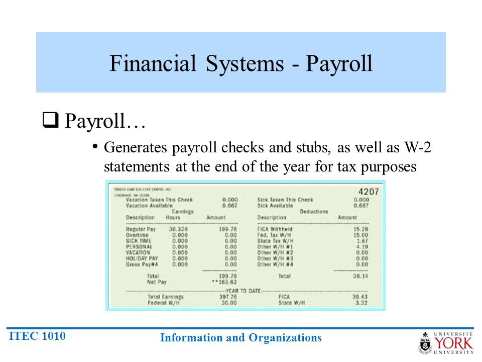 Financial Systems - Payroll