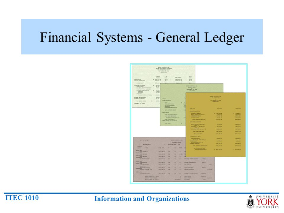 Financial Systems - General Ledger