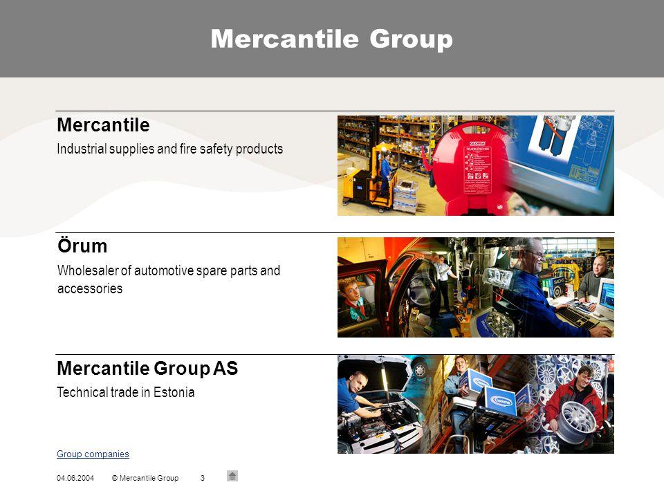 Mercantile Group Mercantile Örum Mercantile Group AS