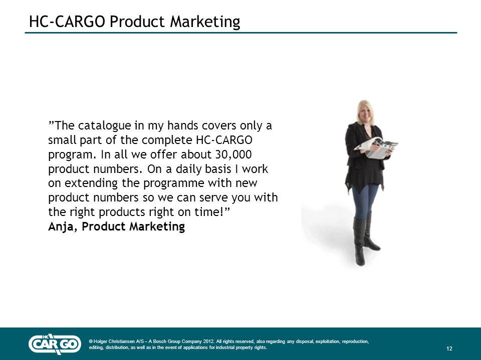 HC-CARGO Product Marketing