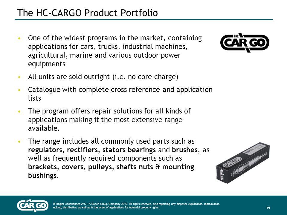 The HC-CARGO Product Portfolio