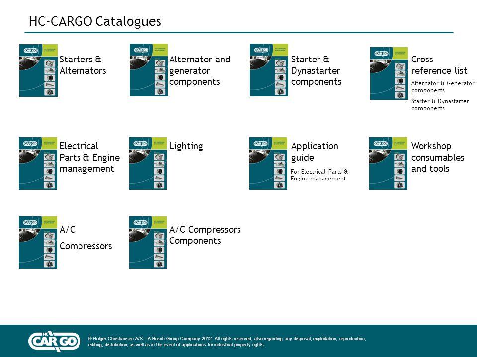 HC-CARGO Catalogues Starters & Alternators