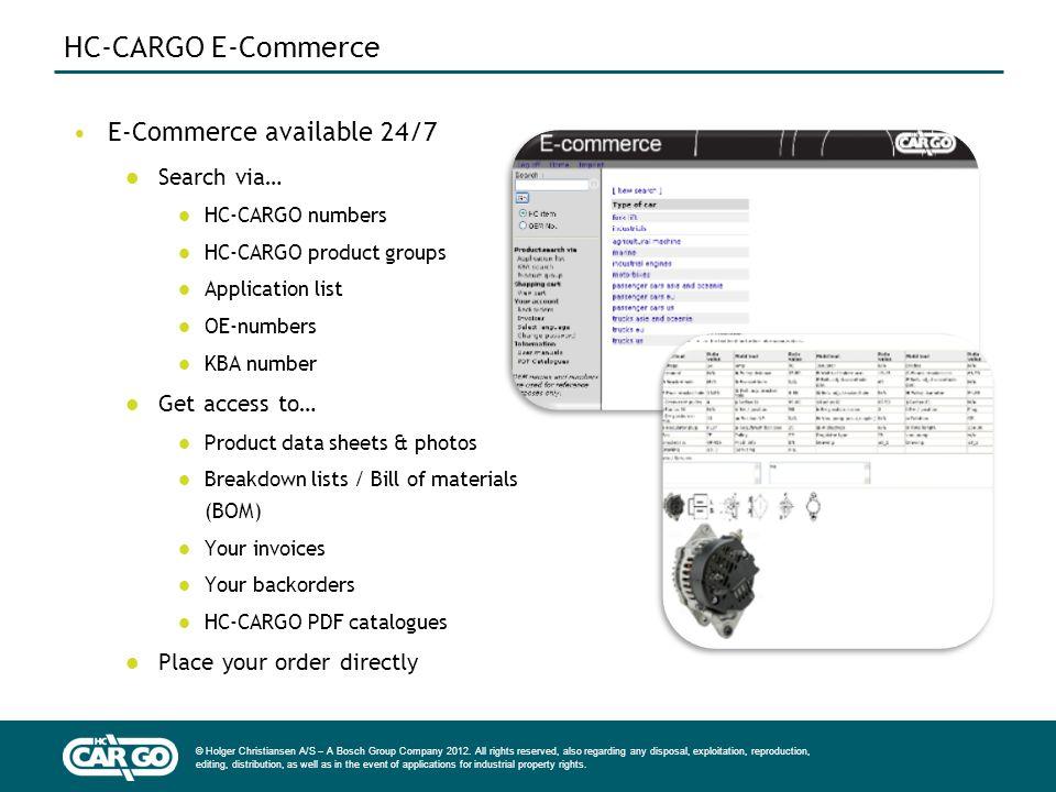 HC-CARGO E-Commerce E-Commerce available 24/7 Search via…