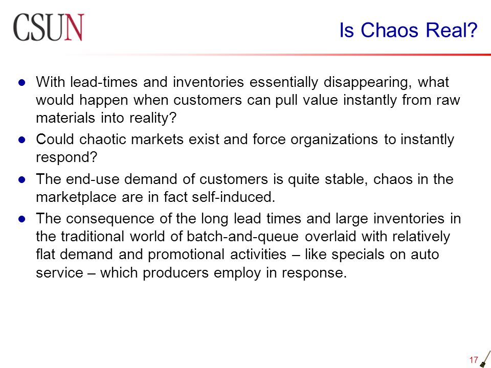Is Chaos Real
