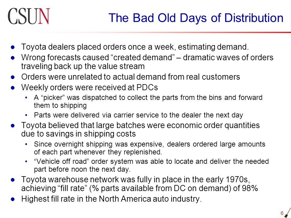 The Bad Old Days of Distribution