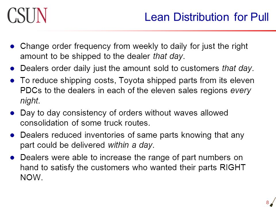 Lean Distribution for Pull