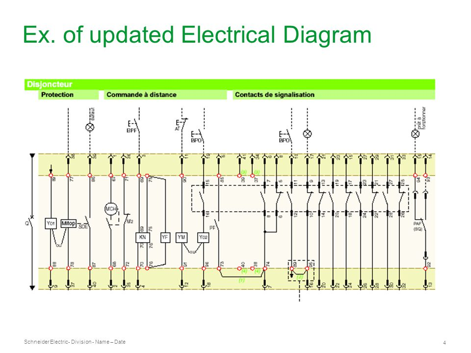 Ex. of updated Electrical Diagram