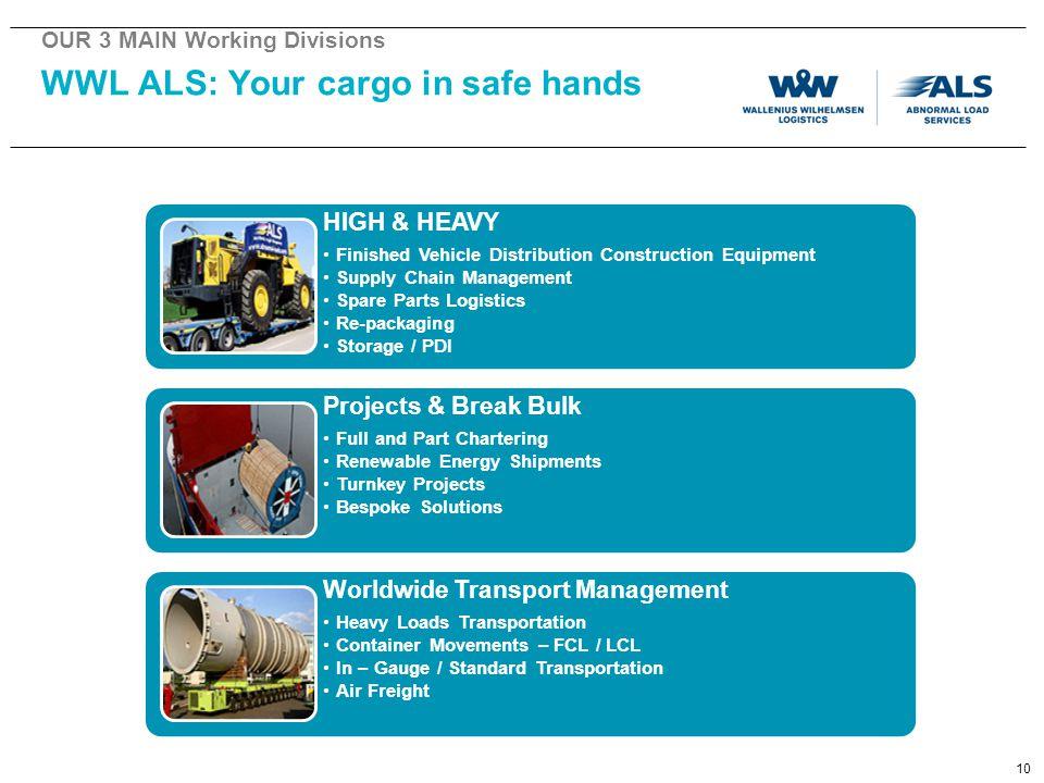 WWL ALS: Your cargo in safe hands