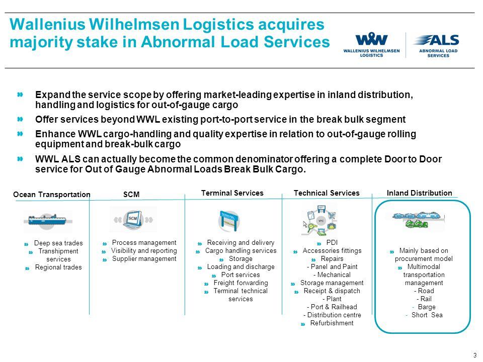 Wallenius Wilhelmsen Logistics acquires majority stake in Abnormal Load Services