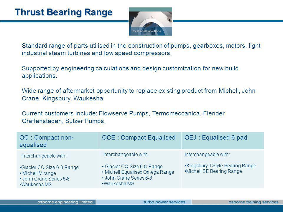 Thrust Bearing Range