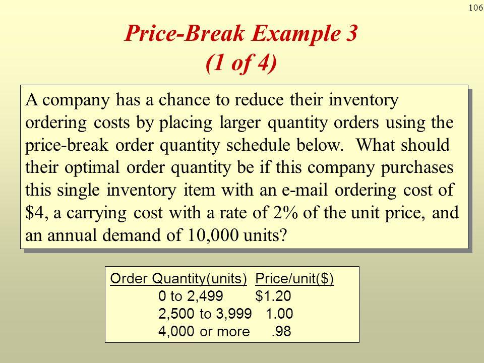 Price-Break Example 3 (1 of 4)