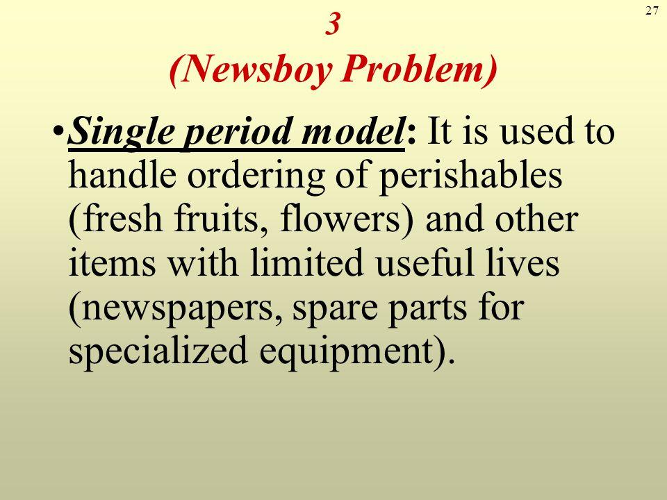 3 (Newsboy Problem)