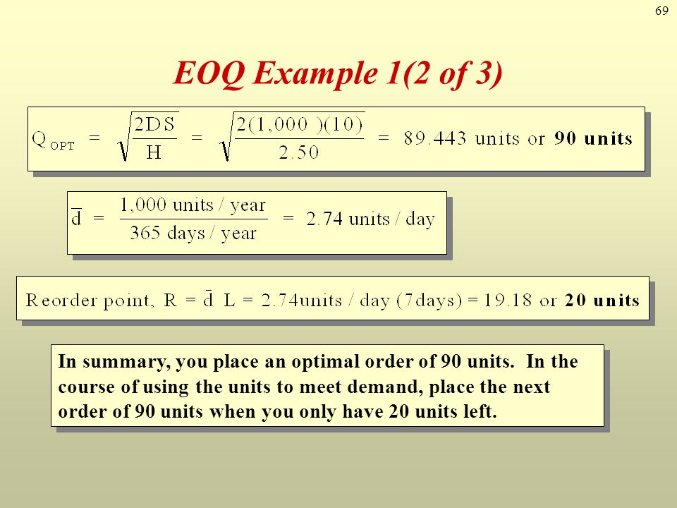 EOQ Example 1(2 of 3)