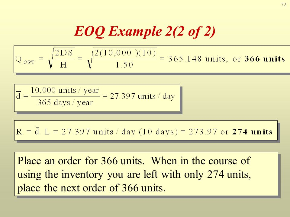 EOQ Example 2(2 of 2)