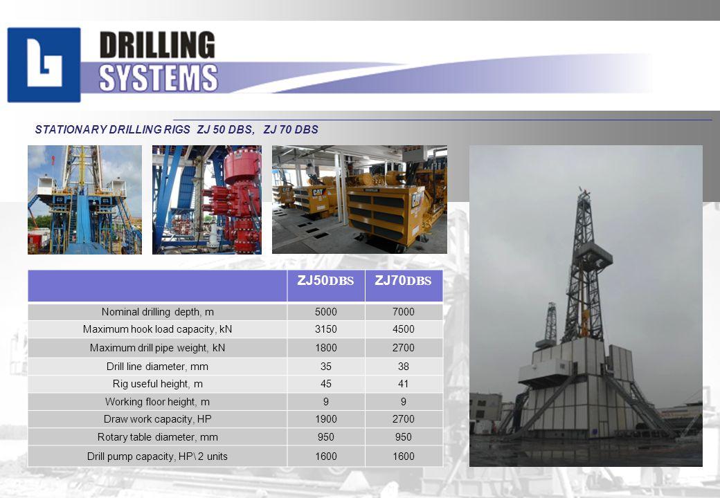 ZJ50DBS ZJ70DBS STATIONARY DRILLING RIGS ZJ 50 DBS, ZJ 70 DBS