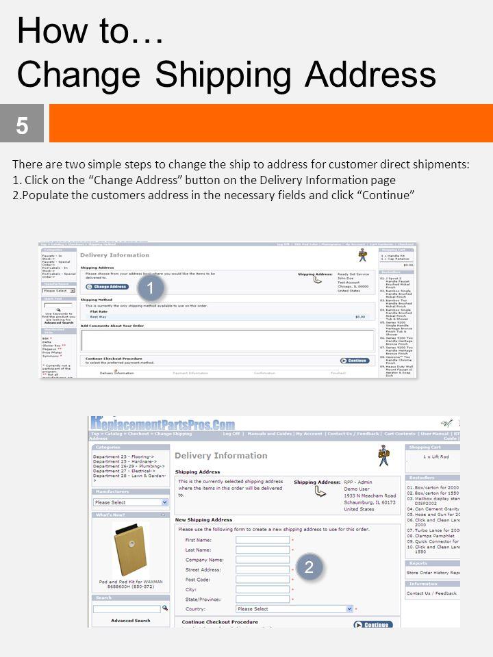 Change Shipping Address