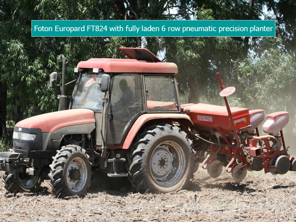 Foton Europard FT824 with fully laden 6 row pneumatic precision planter
