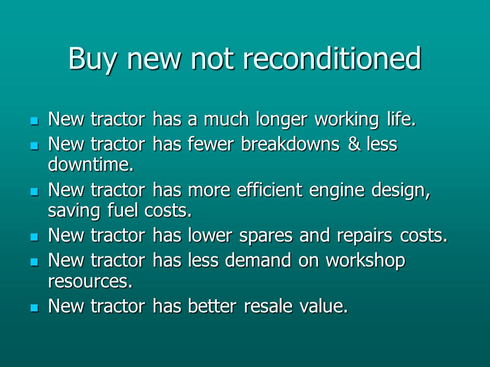 Buy new not reconditioned