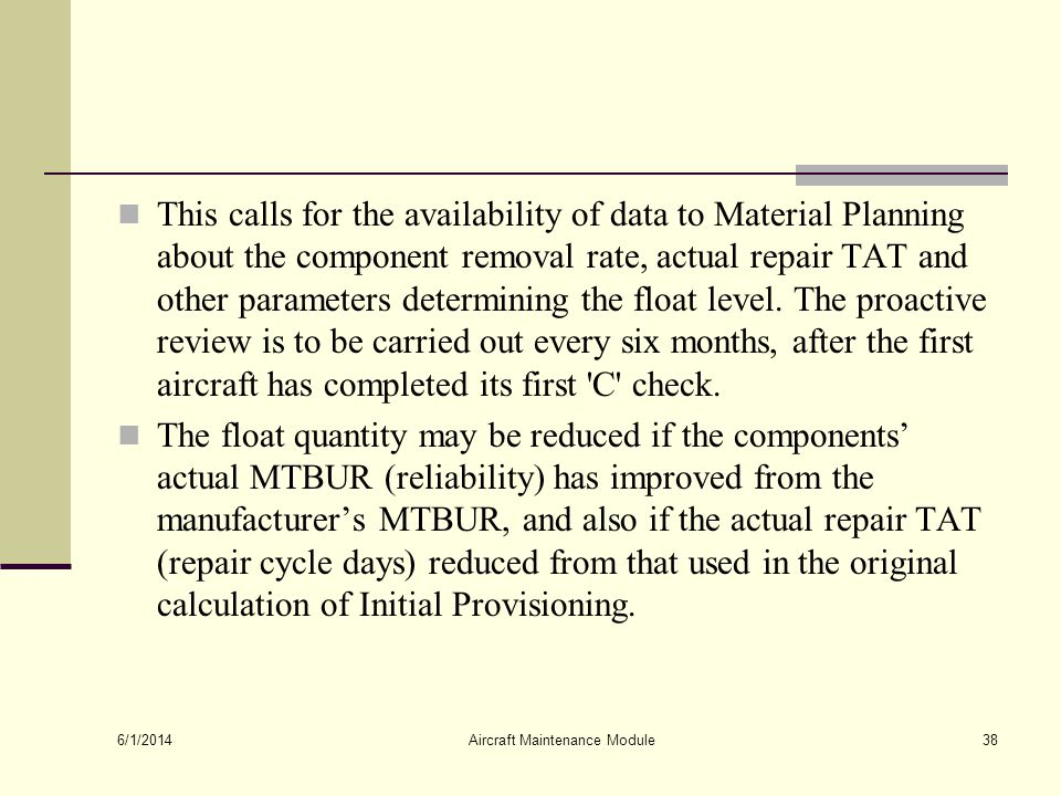 Aircraft Maintenance Module