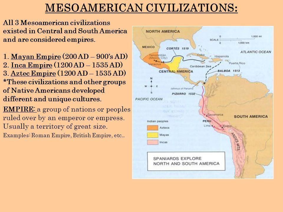 MESOAMERICAN CIVILIZATIONS: