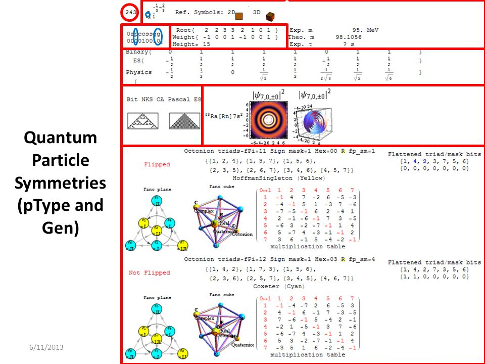 Quantum Particle Symmetries (pType and Gen)