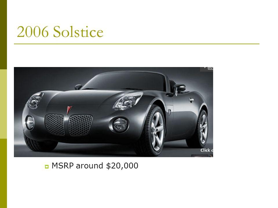 2006 Solstice MSRP around $20,000