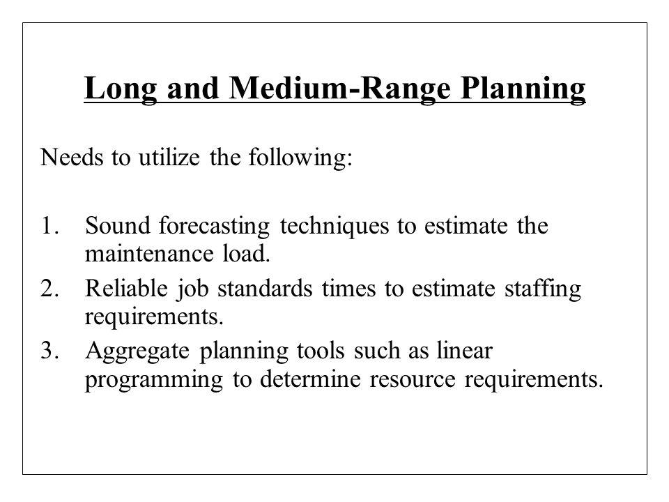 Long and Medium-Range Planning